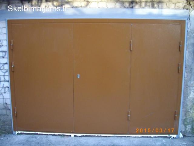 Metaliniai Garazo vartai,Metalines sandeliuko durys, sarvuotos durys
