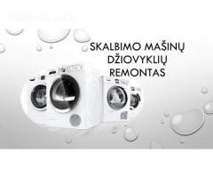 Nebrangus skalbimo mašinų, džiovyklių remontas Klaipėdoje