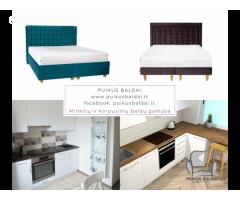 Virtuviniai baldai, dvigulės lovos