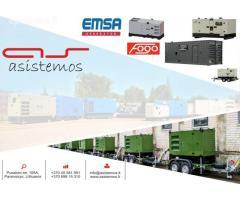 Dyzelinių generatorių tiekimas, derinimas, paleidimas