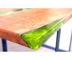 Skaidrus epoksidas  - tinkamas staliukams gamybai