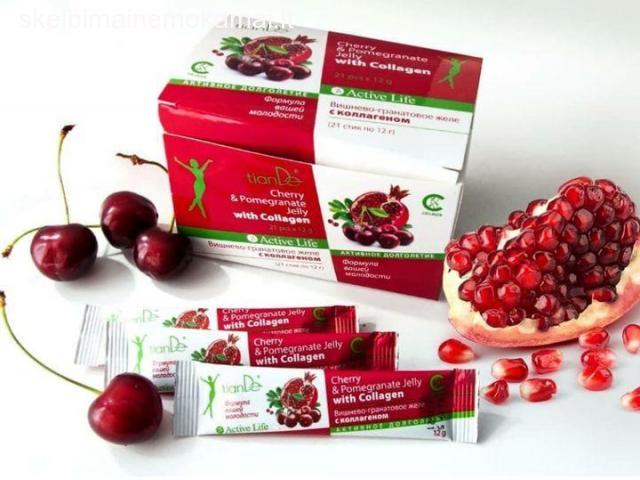 tianDe® gelis su vyšnių – granatų sultimis ir kolagenu