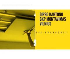 Gipso kartono GKP montavimas Vilnius
