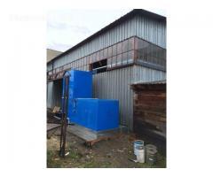 Dažymo kaleros ventiliatoriai šilumokaičiu ir dyzelinio kuro degikliu